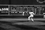 Keith Foulke throws the final pitches on Opening Day, 2005 (4/11/05)