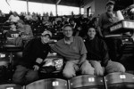 My cousin Chris, uncle Ed, and cousin Alec Thompson at a Cubs game (note the guy selling $5.25 beer!) (June, 2004)