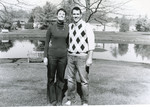 My cousin Jon and his wife Donna (October, 2010) - scan from print made from 4x5 negative with the &quot;Graflarger&quot; adapter--it's an interesting vintage look, but not quite what I wanted