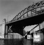 "Boston University Bridge -- print from 2 1/4"" square Tri-X negative (March, 2005)"