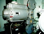 Century C projector and R3 soundhead, with Peerless arc lamp on Motiograph base (Summer, 2000)
