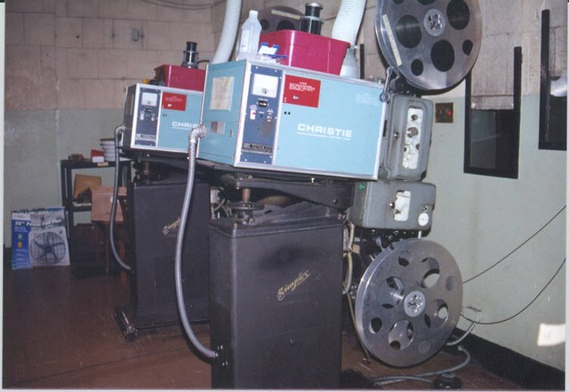 Projection booth (spring, 1999)