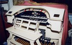 Organ console for the Mighty WurliTzer (August, 2002)