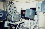 16mm and video projector, set up for festival screenings (August, 2002)