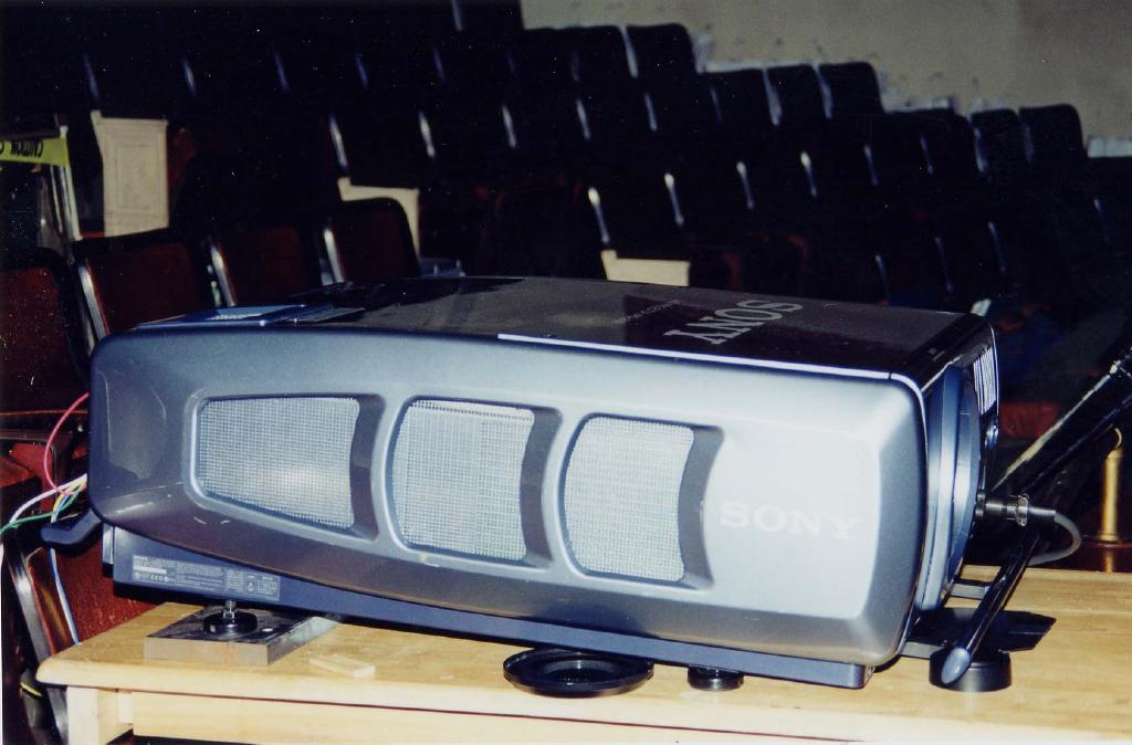 Sony DLP projector for festival screening (August, 2002)