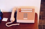 "outside-the-kitchen phone:  Western Electric 1A2 20-button set; the 551c ""shoebox"" KSU is not shown"