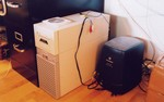 hedgehog (Sun Ultra 60) and anteater (SGI O2) under desk